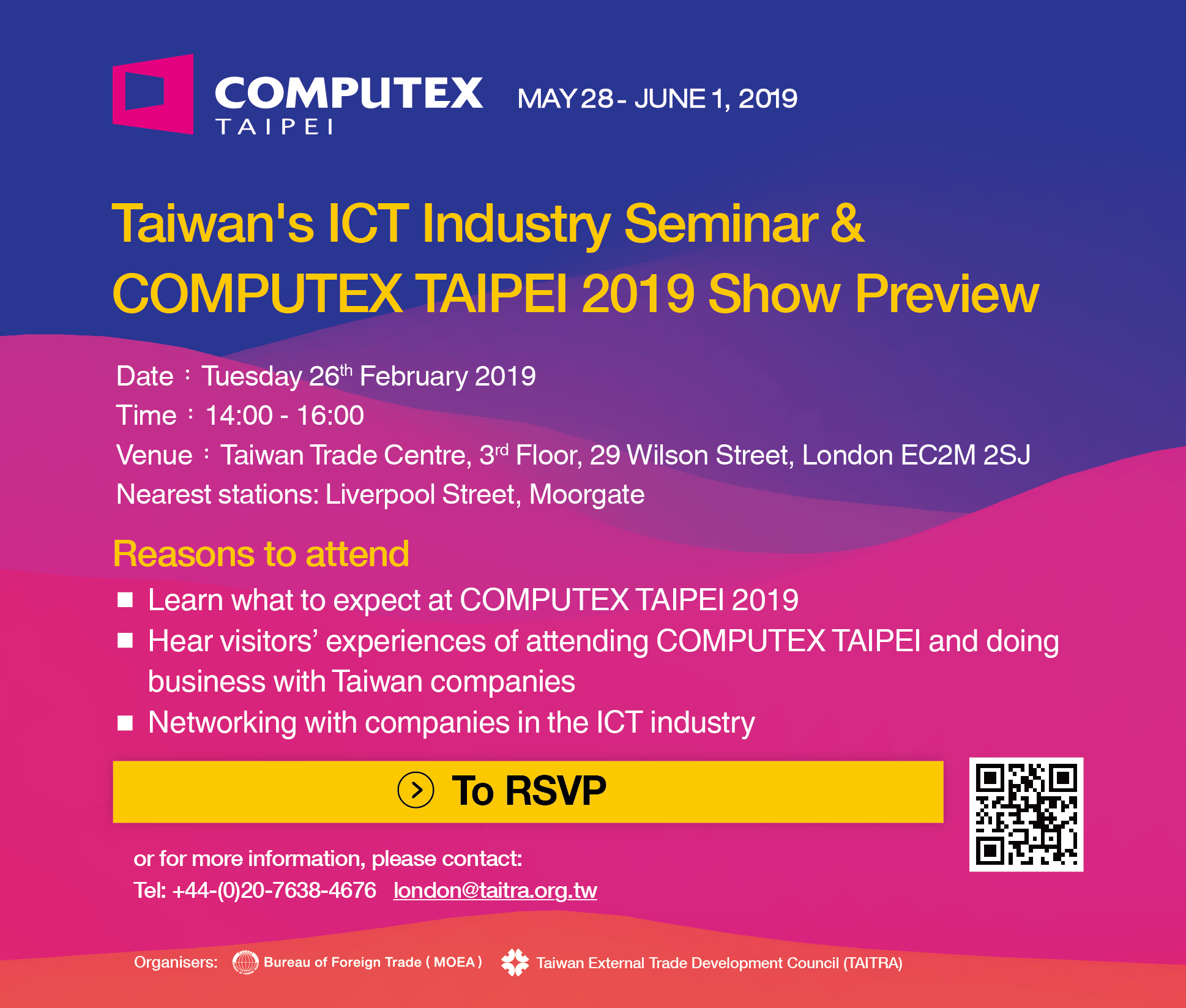 Taiwan Trade Centre London, 倫敦台灣貿易中心 - Taiwan's ICT